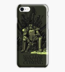 Nuclear winter is coming iPhone Case/Skin