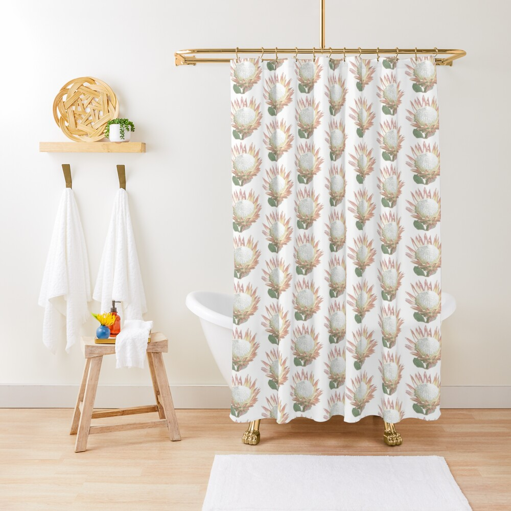 South African King Protea Shower Curtain
