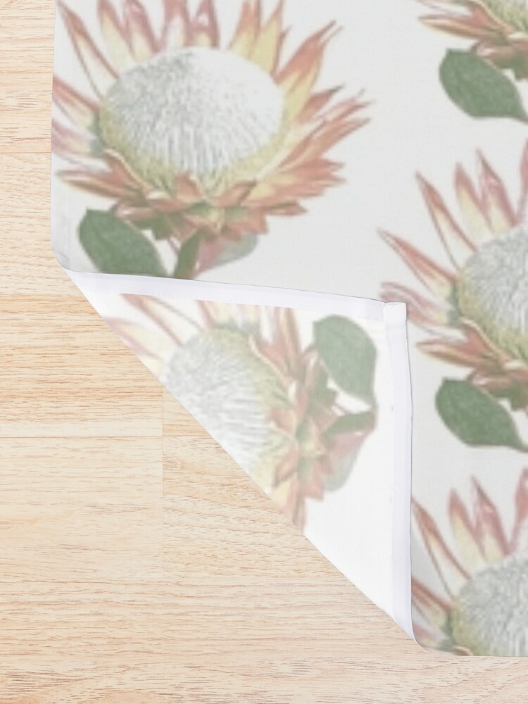 Alternate view of South African King Protea Shower Curtain