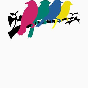 Birds Hanging Out by VFoRV