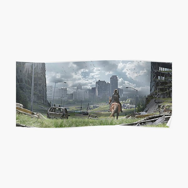 The Last Of Us Part II - Ellie a caballo Póster
