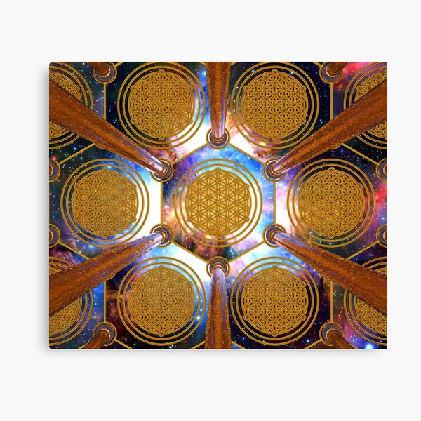Flower of life Healing Code Canvas Print