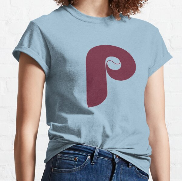 Retro Philadelphia Phillies Baseball - Maroon Powder Blue Classic T-Shirt
