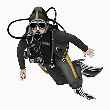 scuba diver 2 by fitztown