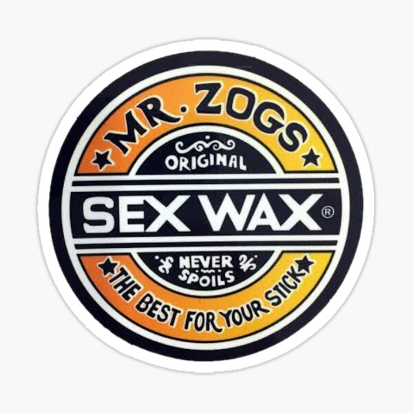 Mr Zogs Sex wax Pegatina