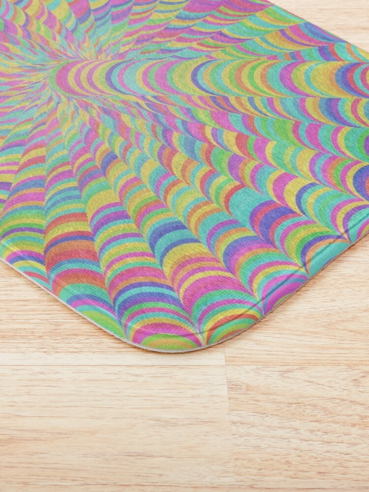 Alternate view of Random Color Generation Bath Mat