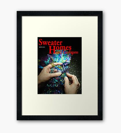 She Wanted to improve her gardening skills But She picked up Sweater Home and Cardigans by Mistake Framed Print