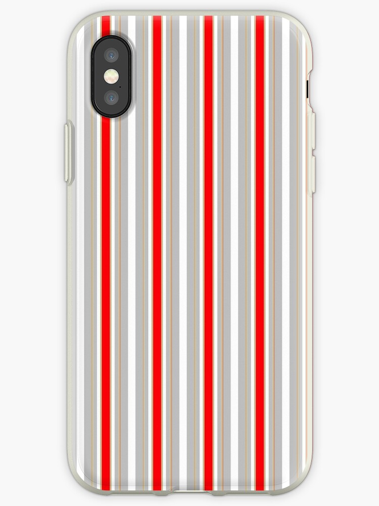 Gold Silver and Red Christmas Stripes by podartist