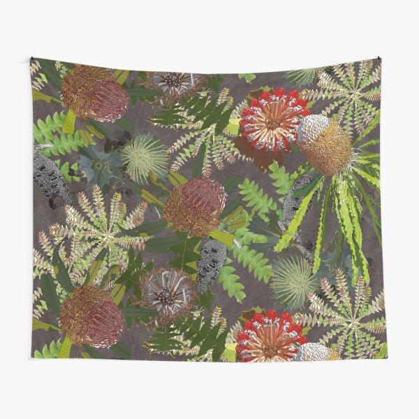 Lush Banksia Flower Design Tapestry