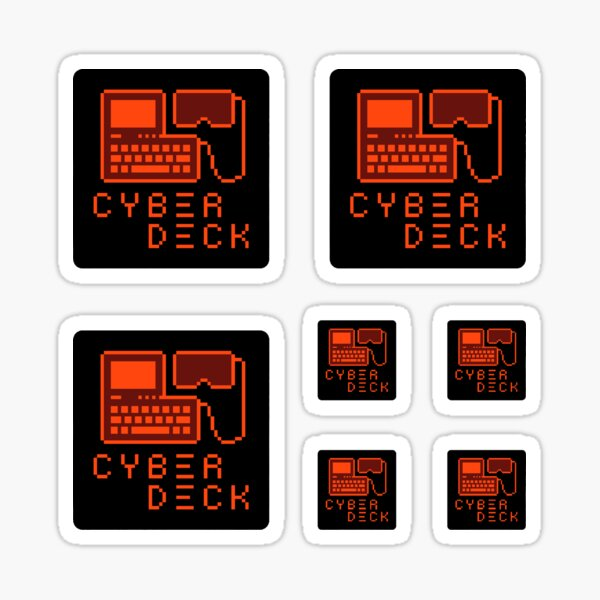 Cyberdeck Logo Sticker