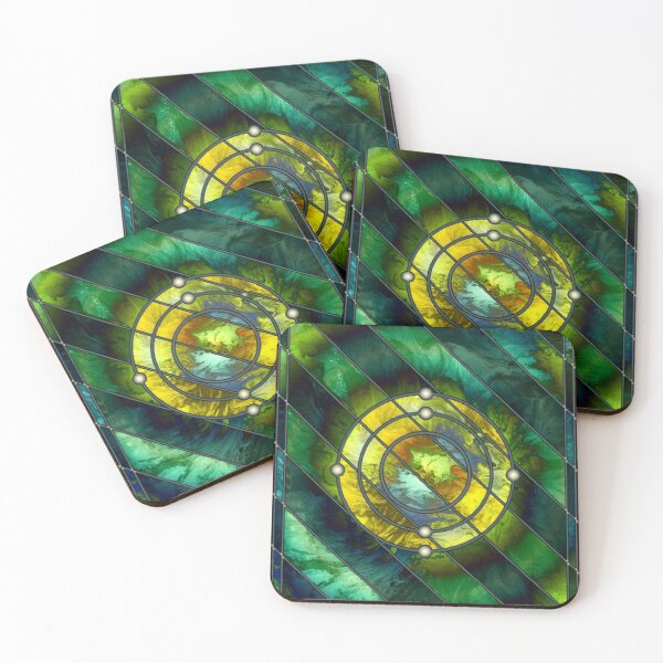 Element 6: Carbon Coasters (Set of 4)