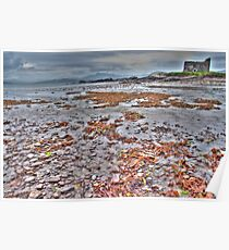 Castle Ruin on the Beach Near Dingle Ireland Poster