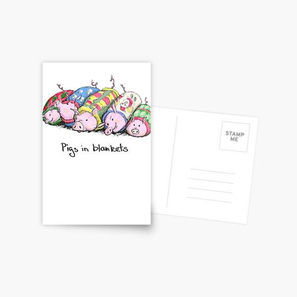 Pigs in Blankets Postcard