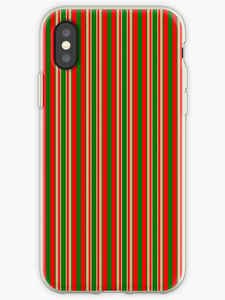 Red Green & Gold Christmas Stripes by podartist