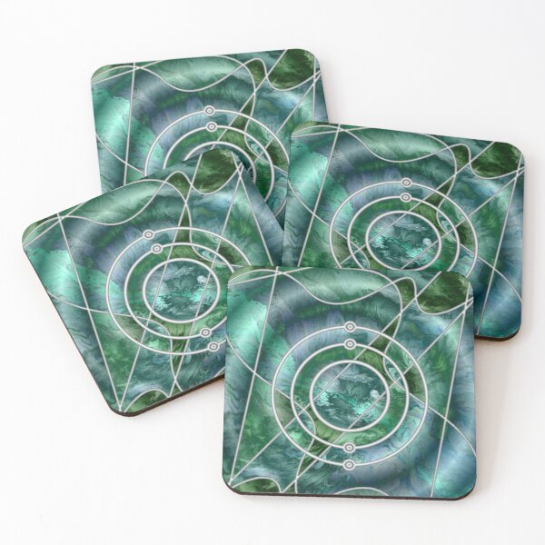 Element 4: Beryllium Coasters (Set of 4)