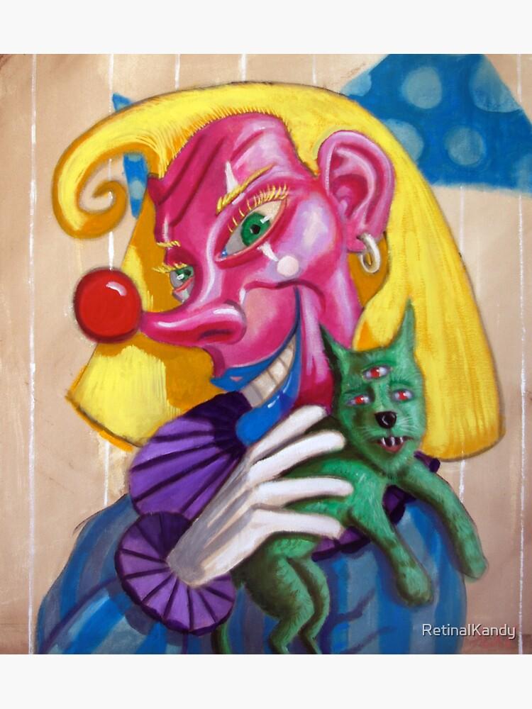 Dori Clown with three eyed doggy by RetinalKandy