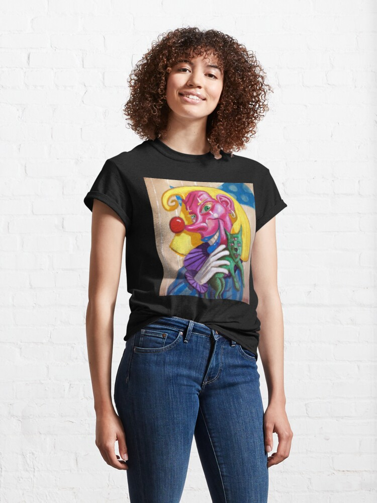Alternate view of Dori Clown with three eyed doggy Classic T-Shirt
