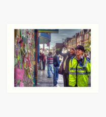 Reading the Wall of Hope - Peckham Art Print