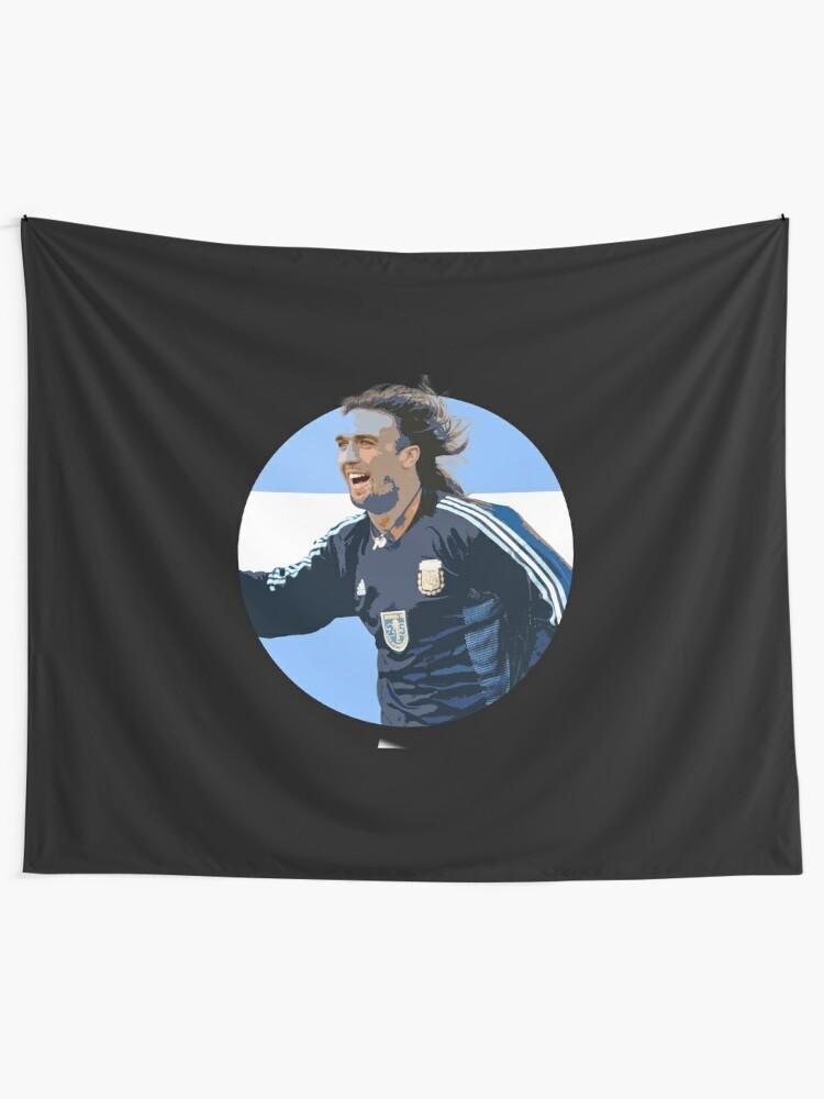 Alternate view of Batistuta - Argentinian Football Legend Tapestry