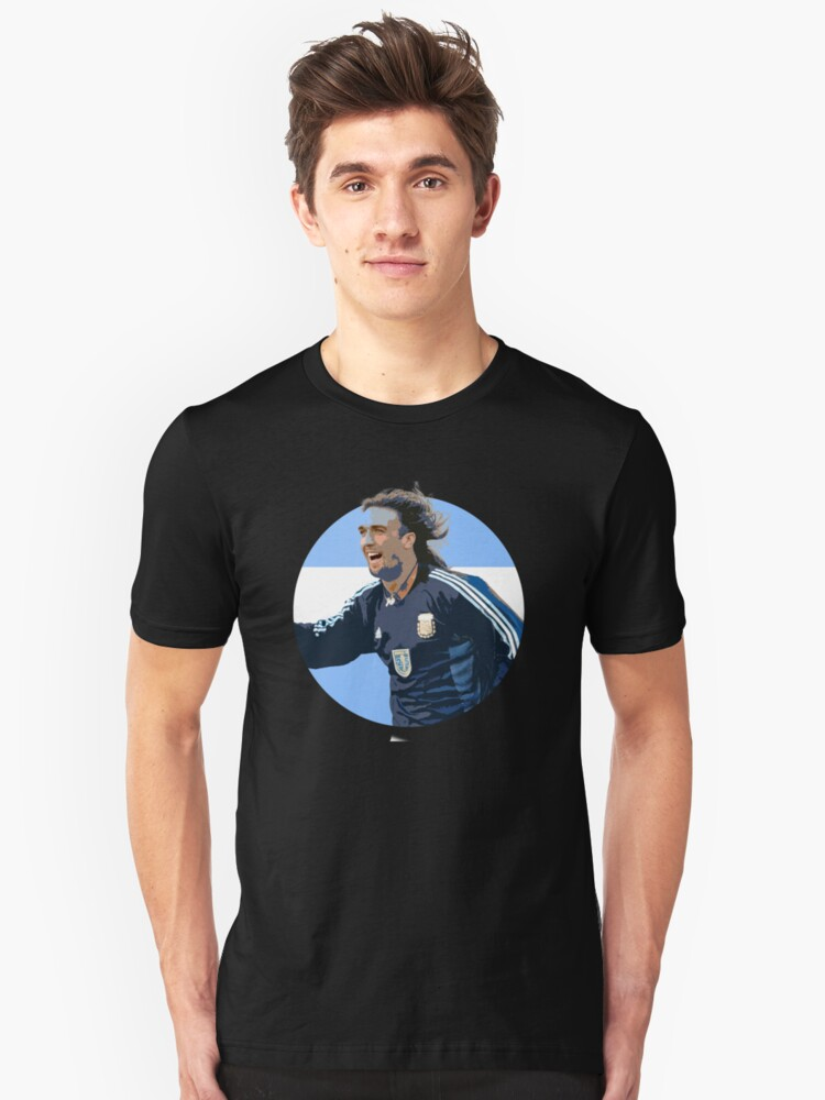 Alternate view of Batistuta - Argentinian Football Legend Slim Fit T-Shirt