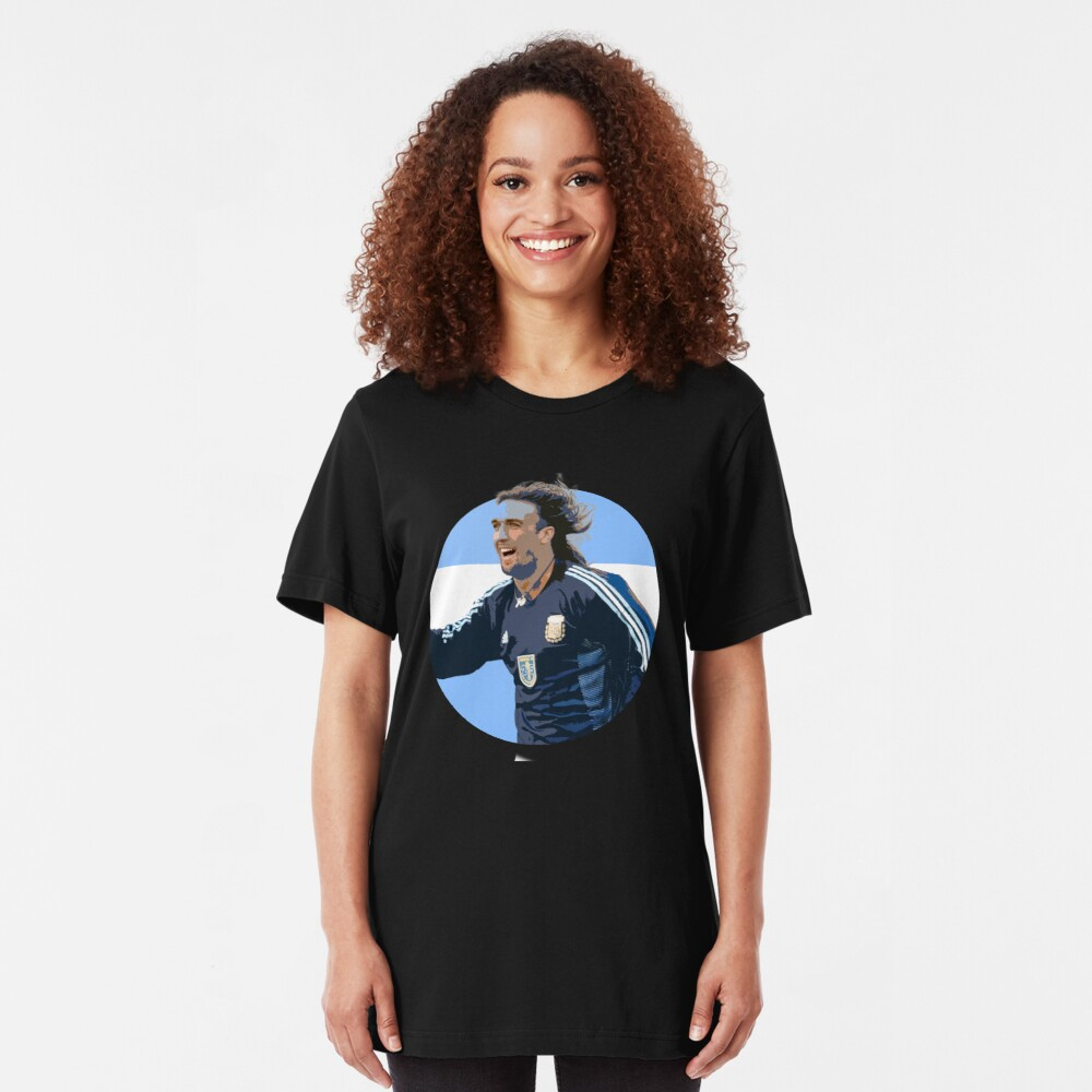 Batistuta - Argentinian Football Legend Slim Fit T-Shirt