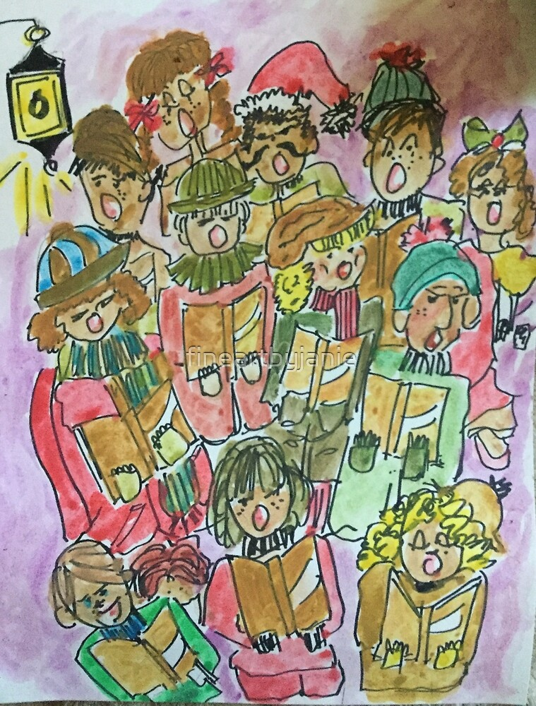 Christmas Songs n Cheer by fineartbyjanie