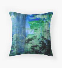 Blue-Green Throw Pillow