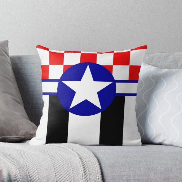 Mustang in the Sky Throw Pillow