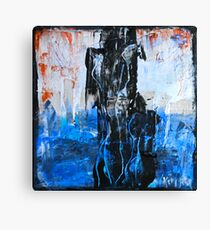 Blue-White Canvas Print