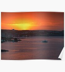 Sunrise over Halifax Harbour Poster