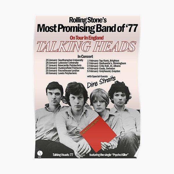 TALKING HEADS UK TOUR POSTER (1977) Poster