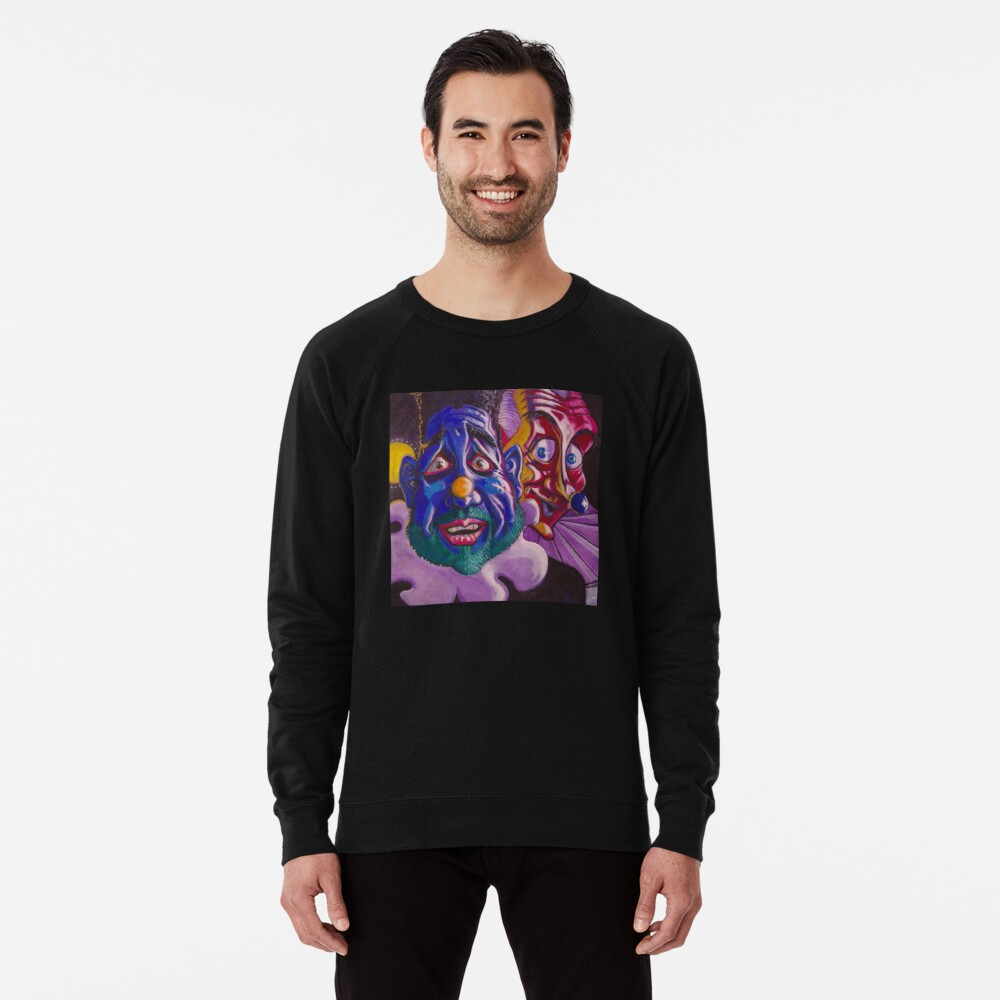 Happy scared, Pensive curious Lightweight Sweatshirt