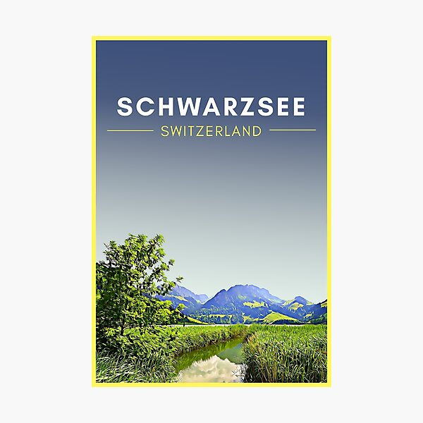 Schwarzsee Switzerland Vintage Travel Art Photographic Print