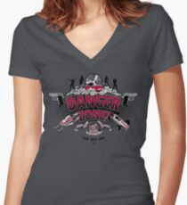 Danger Zone! Women's Fitted V-Neck T-Shirt