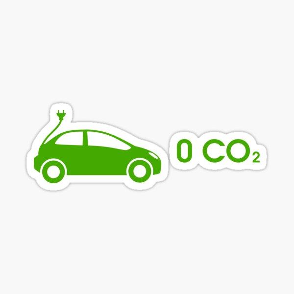 electric car zero CO2 Sticker