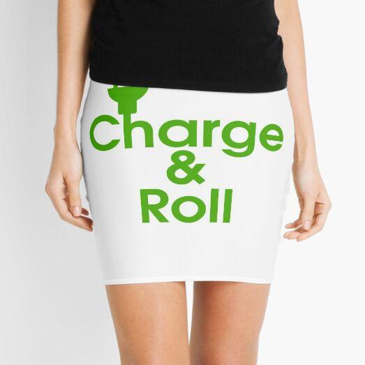 electric car charge & roll v2 Mini Skirt