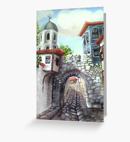 Hissar fortress  Greeting Card
