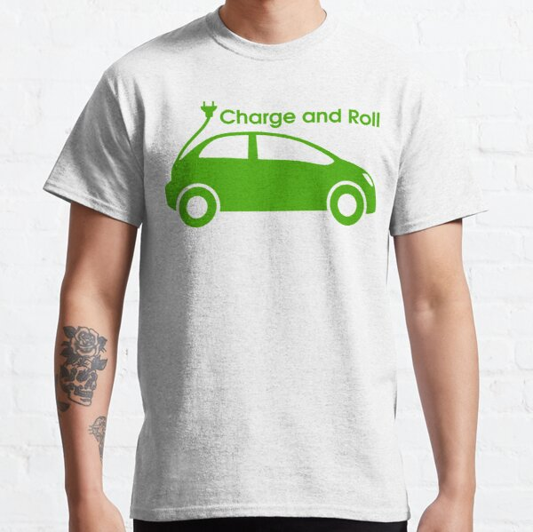 electric car charge and roll Classic T-Shirt