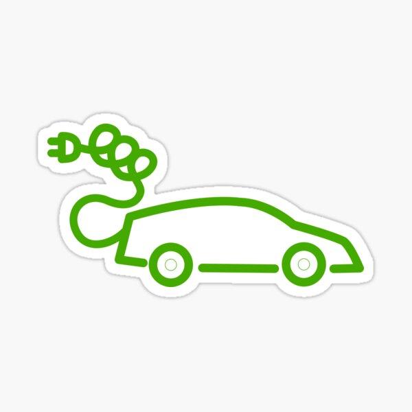 electric car plug v2 Sticker