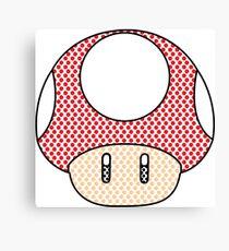 nintendo Mushroom Canvas Print