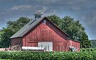 Red Barn With a Steeple by Sheryl Gerhard