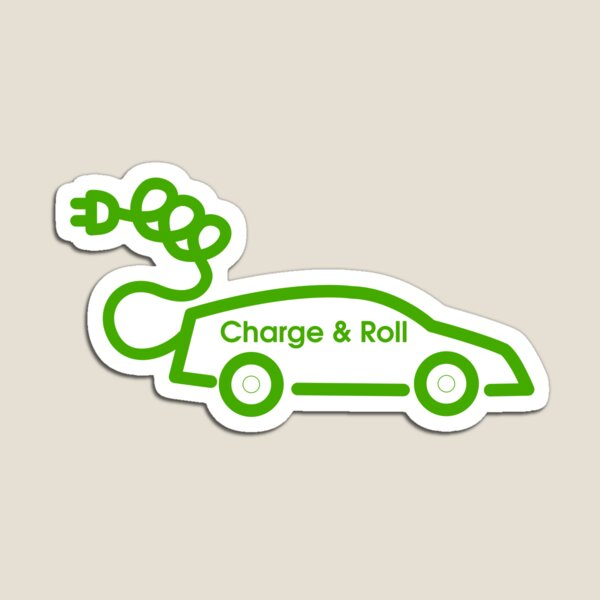 electric car charge and roll v3 Magnet
