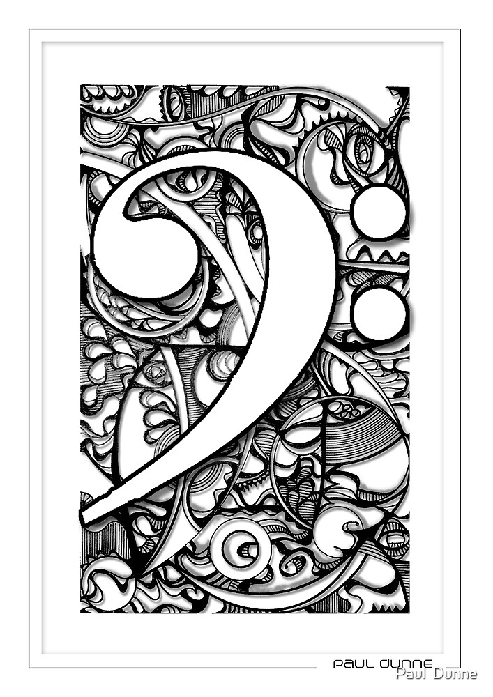 BASS CLEF DOODLE by Paul  Dunne