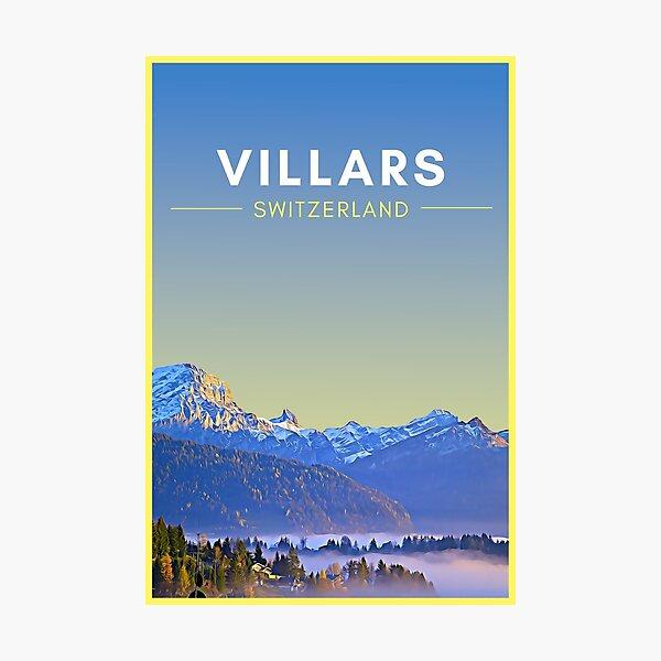 Villars Switzerland Vintage Travel art Photographic Print