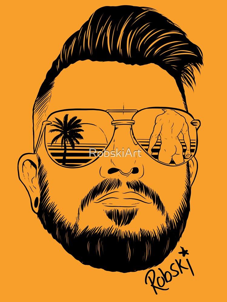 Josh Ginger Beard - black lines by RobskiArt