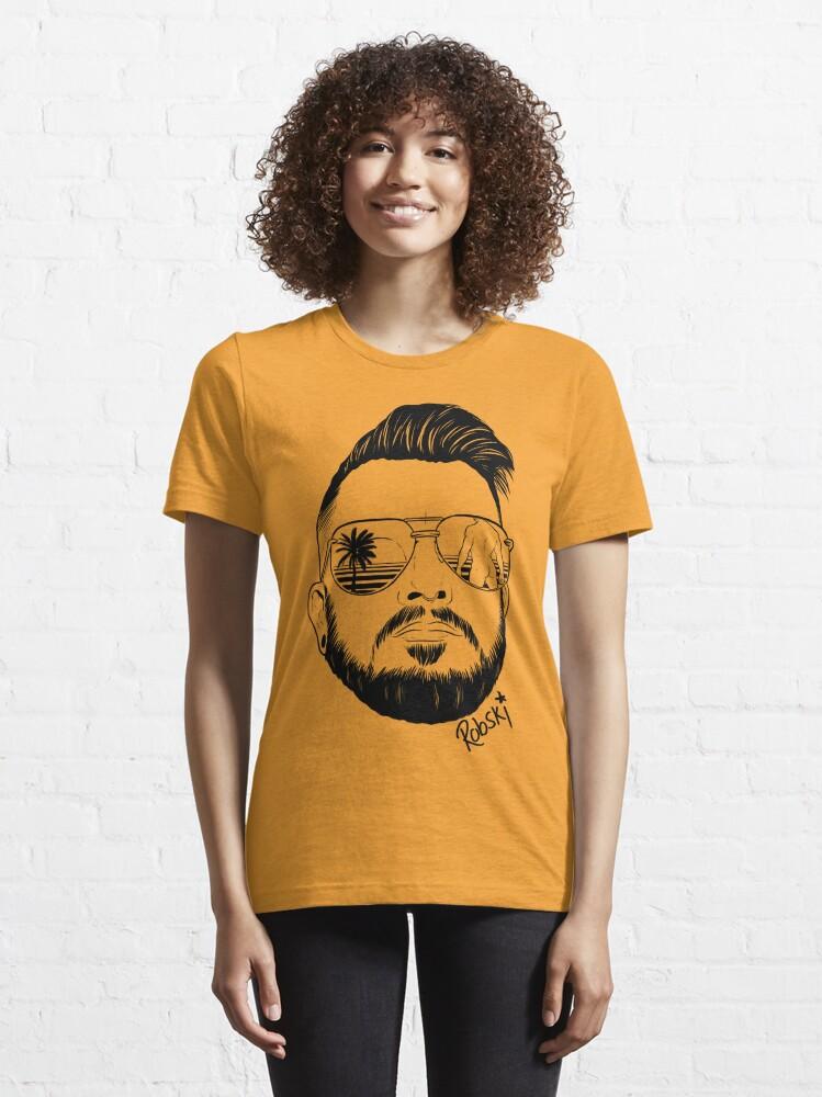 Alternate view of Josh Ginger Beard - black lines Essential T-Shirt