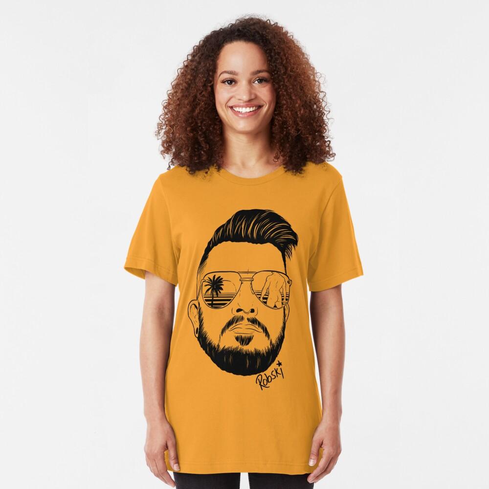 Josh Ginger Beard - black lines Slim Fit T-Shirt