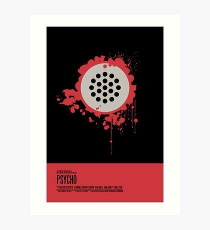 Psycho Poster Art Print