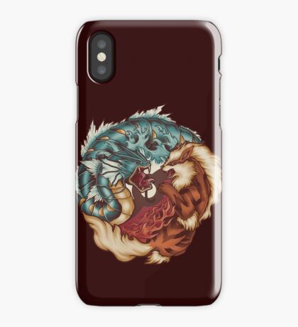 The Tiger and the Dragon iPhone Case