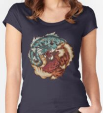 The Tiger and the Dragon Women's Fitted Scoop T-Shirt